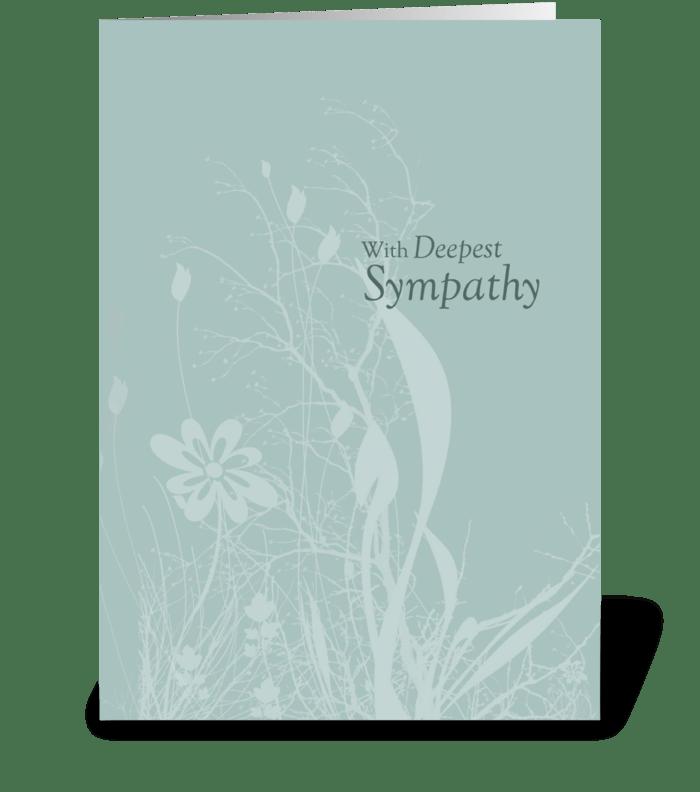Seafoam Soft Organic Sympathy greeting card