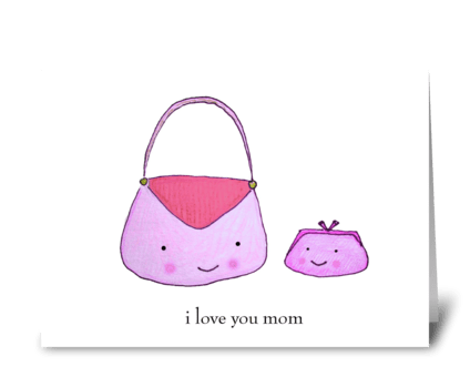 Purse Mother greeting card