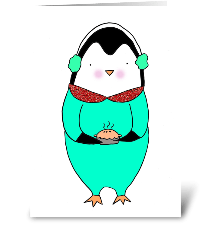 Penguin & Pie greeting card