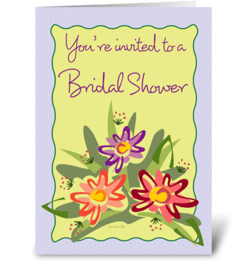 Flower bouquet Bridal Shower Invite greeting card