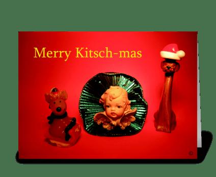 Merry kitschmas greeting card