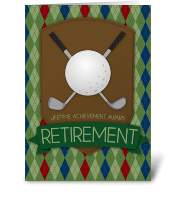 Retirement Award greeting card