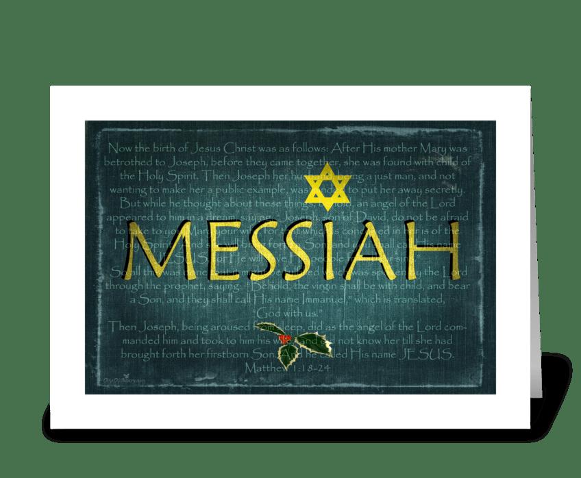 Messiah greeting card