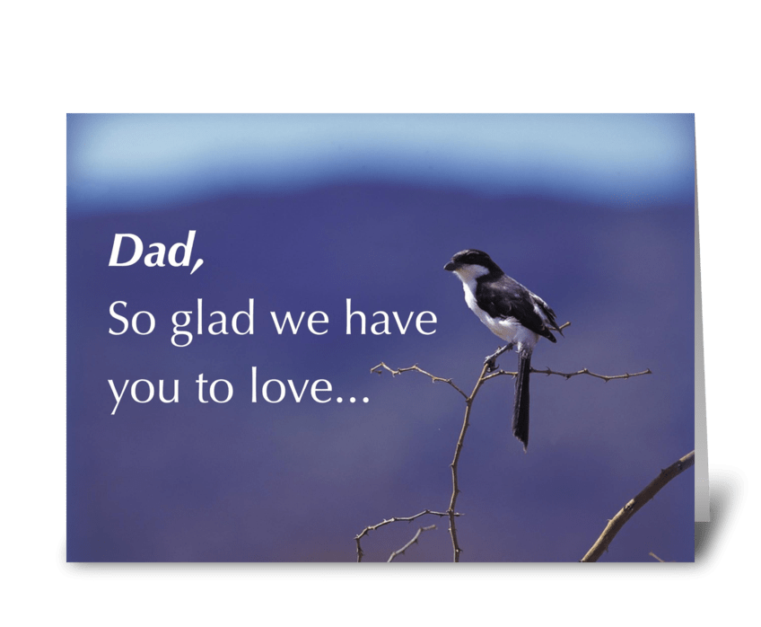 Happy Father's Day Bird greeting card