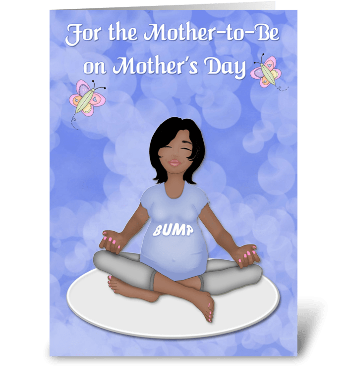 Mother-to-Be, Yoga, Mother's Day greeting card
