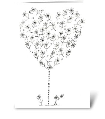 Mothers Day Monochrome greeting card