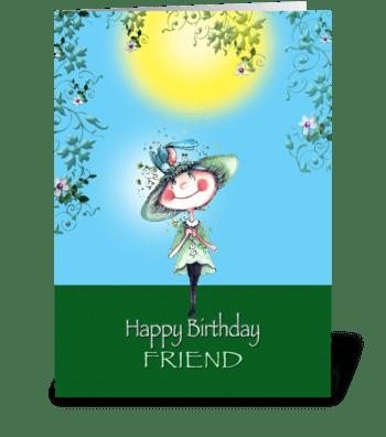 Birthday for Friend greeting card