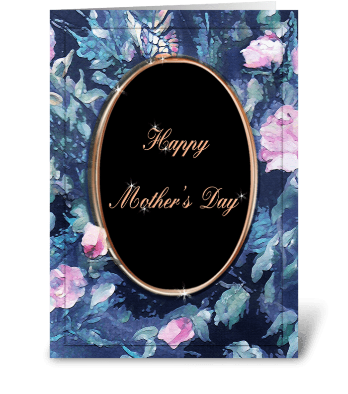 Happy Mother's Day, Cameo design greeting card