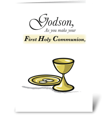Godson First Communion greeting card