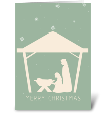 Nativity Card greeting card