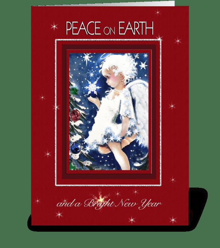 Peace on Earth Angel greeting card
