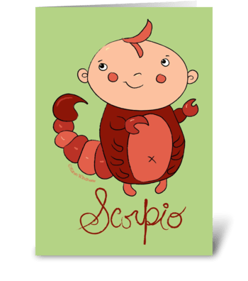 Little Scorpio greeting card