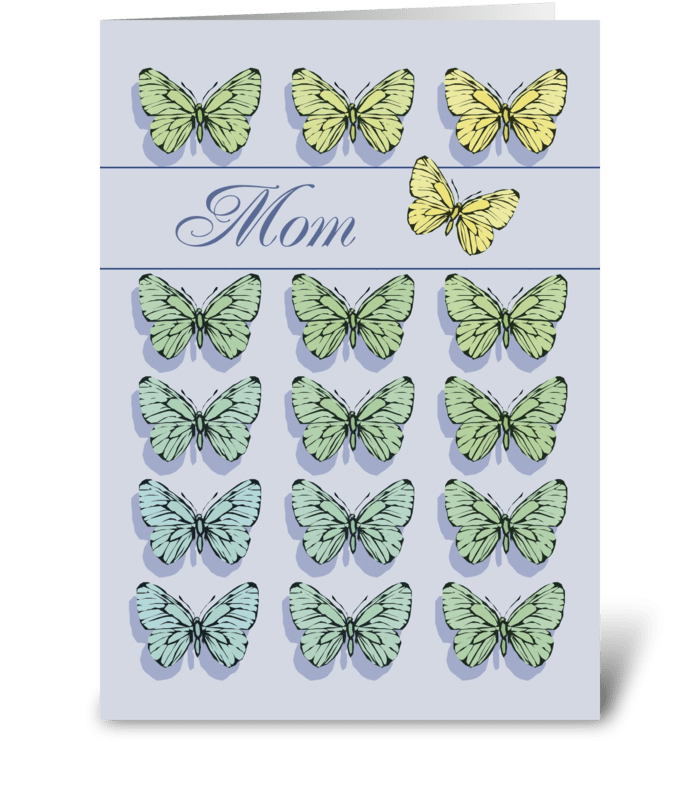 Mother's Day Butterflies greeting card