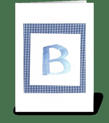 B - Baby Boy greeting card