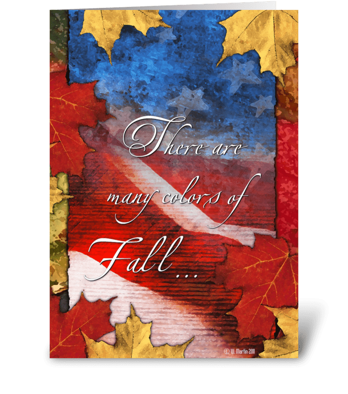 Thanksgiving Colors Greeting Card greeting card