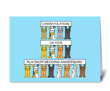 Platinum Wedding Anniversary  greeting card