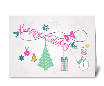 Happy Holiday card greeting card