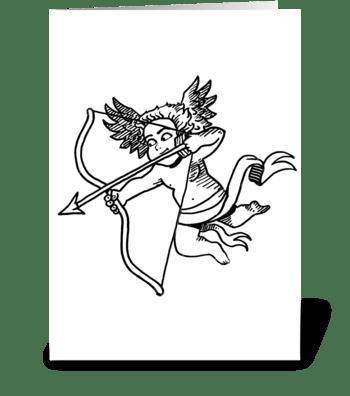 Cupid Love greeting card