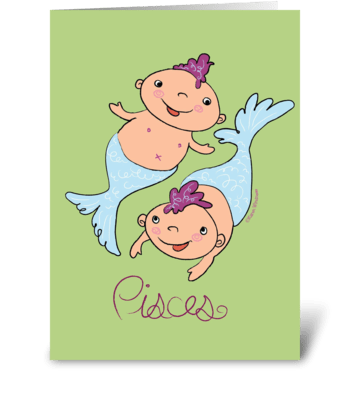 Little Pisces greeting card