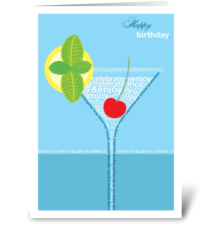 Birthday Cocktail greeting card