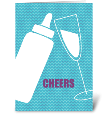 Toast to Sobriety greeting card