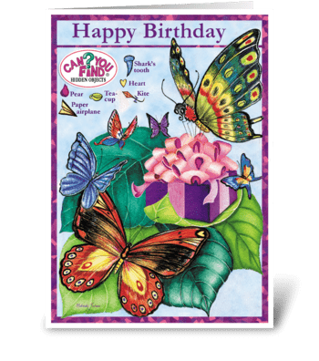 Butterfly Birthday Card greeting card