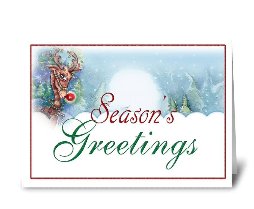 Season's Greetings Reindeer greeting card