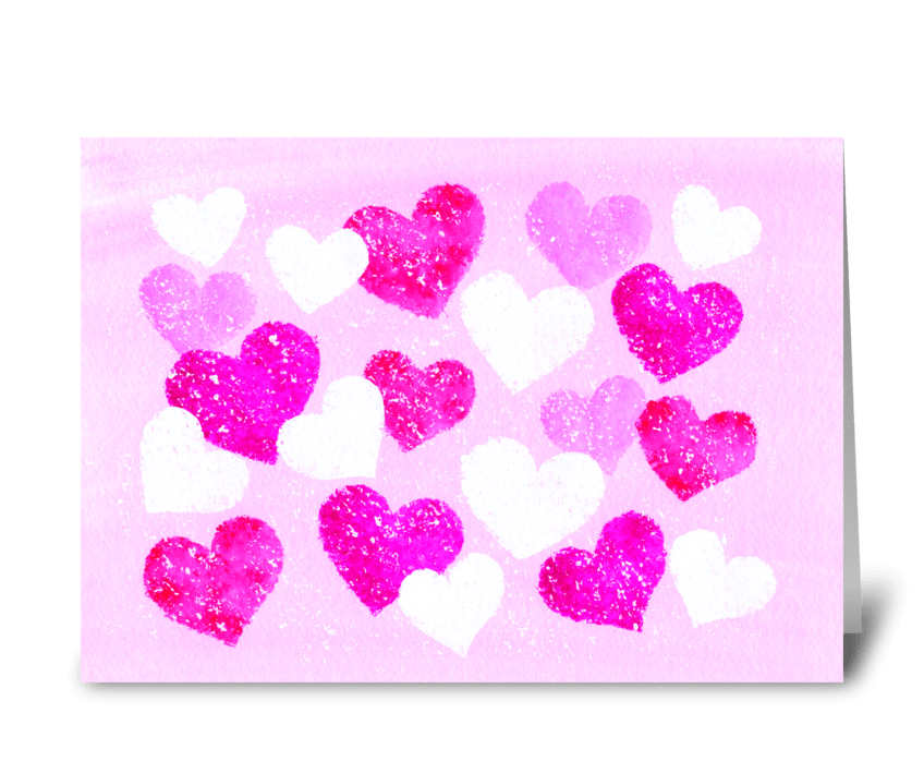 Hearts of love greeting card