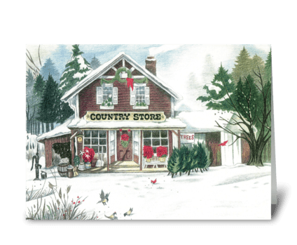Country Store greeting card