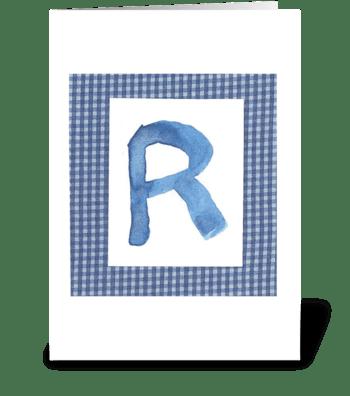 R - Baby Boy greeting card