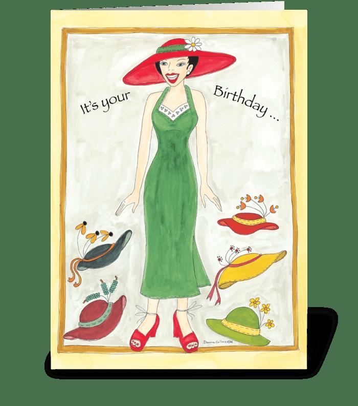 Birthday Hat's greeting card