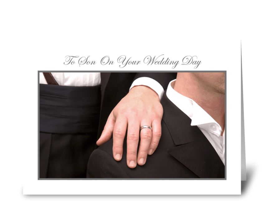 To Son on Your Wedding Day greeting card