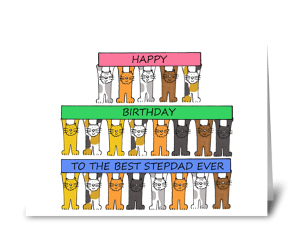Step Dad Happy Birthday greeting card