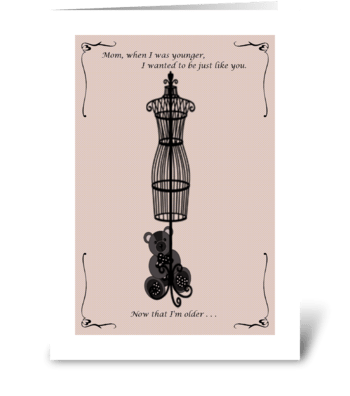 Mother's Day Pink Bear greeting card