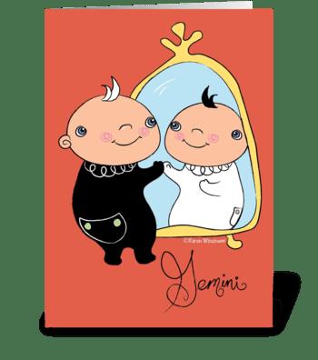 Little Gemini greeting card