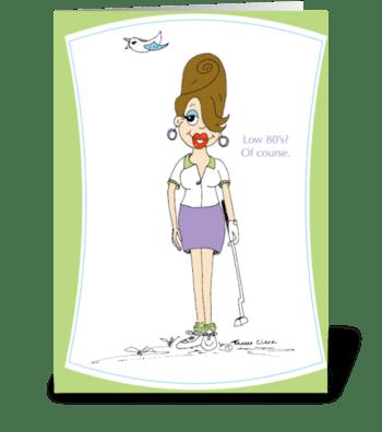 Golfer Gilda greeting card