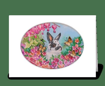 Hoppy Bunny Day! greeting card
