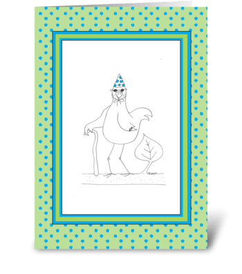Happy Birthday Old Coot greeting card