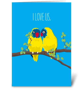 Love Us Love Birds greeting card