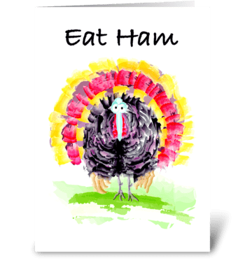 Gobble Gobble greeting card