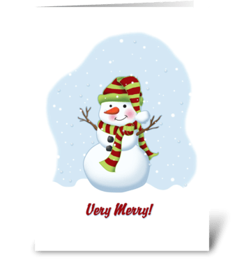 Very Merry Snowman greeting card
