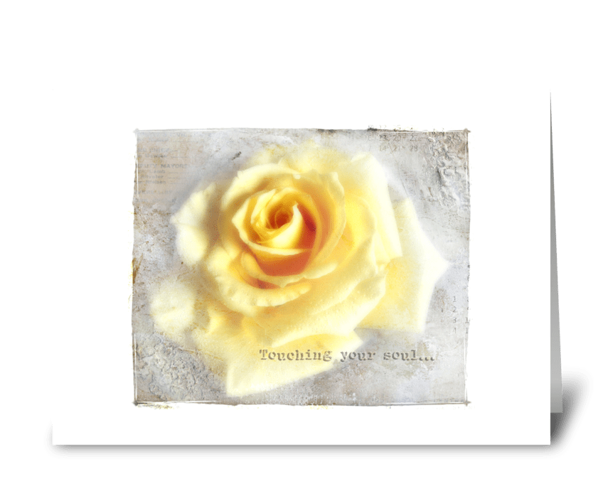 Touching your soul... greeting card