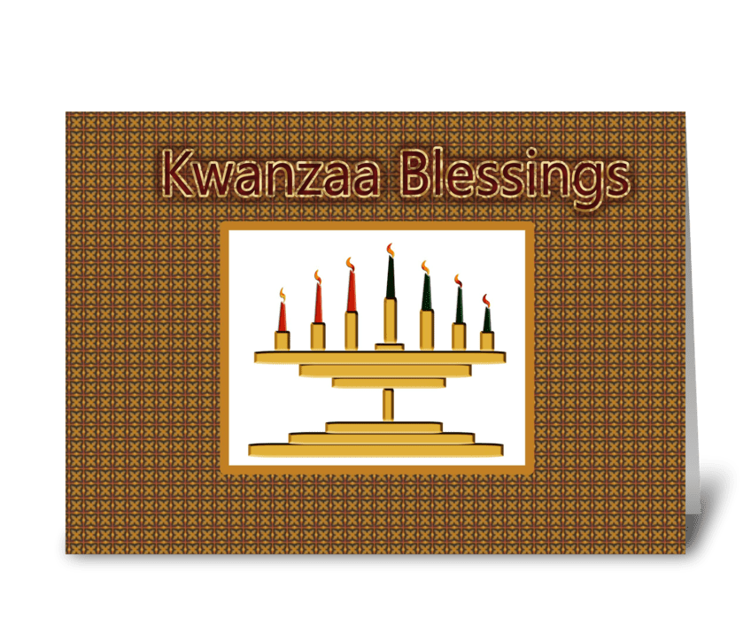 Kwanzaa blessings send this greeting card designed by starstock kwanzaa blessings greeting card m4hsunfo