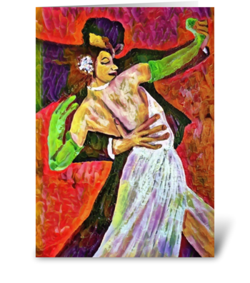 dancing with you greeting card