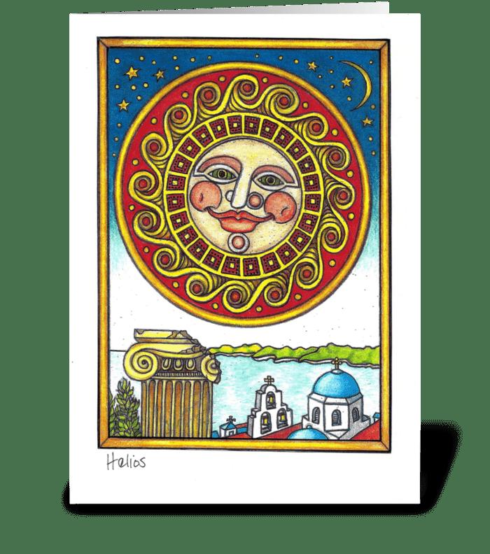 Helios greeting card