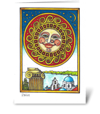 Helios greeting card