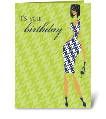 Happy Hour Birthday greeting card