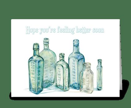 Get better bottles greeting card