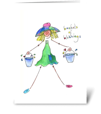 buckets of blessings greeting card