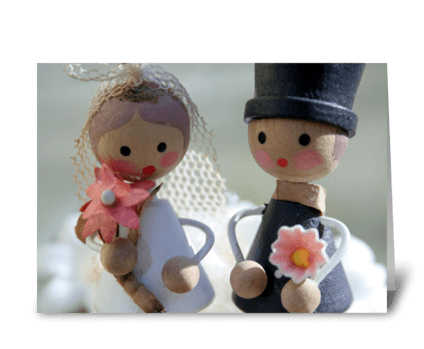 Sweet Bride & Groom greeting card